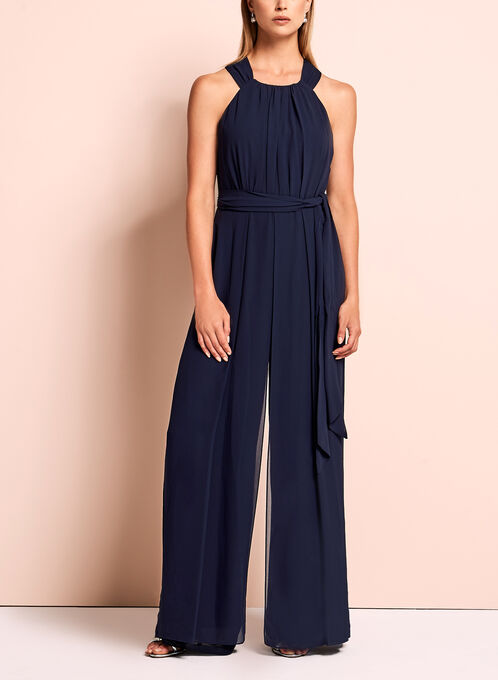 Vince Camuto Wide Leg Jumpsuit, Blue, hi-res