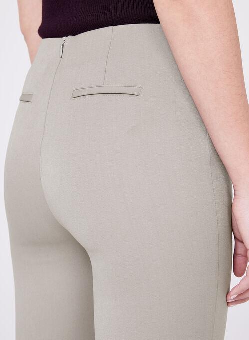 Bi-Stretch Slim Leg 7/8 Pants, Off White, hi-res