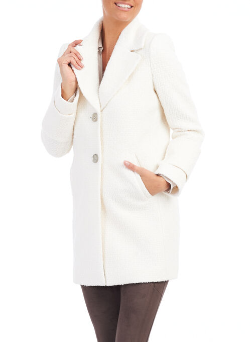 French Connection Wool Coat , White, hi-res