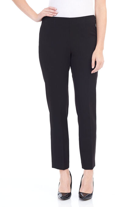 Loulou Diamond Slim Leg Pants , Black, hi-res