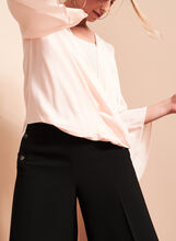 Angel Sleeve Fold Over Blouse, Off White, hi-res