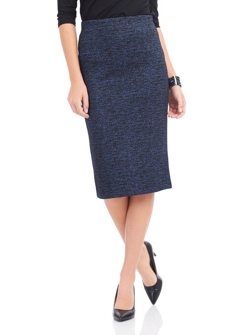 Trisisto Back Slit Pencil Skirt, Black, hi-res