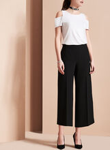 Wide Leg Culotte Pants, , hi-res