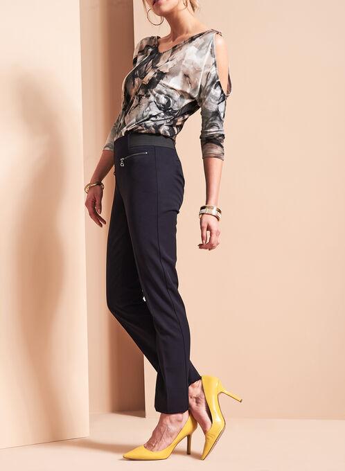 Bi-Stretch Slim Leg Pants , Blue, hi-res