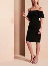 Frank Lyman Cold Shoulder Scuba Dress, Black, hi-res