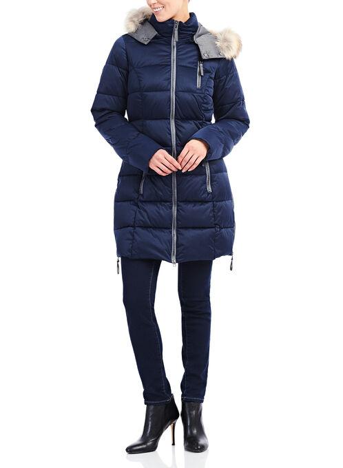 Techno Arctic Fill Jacket with Coyote Fur , Blue, hi-res
