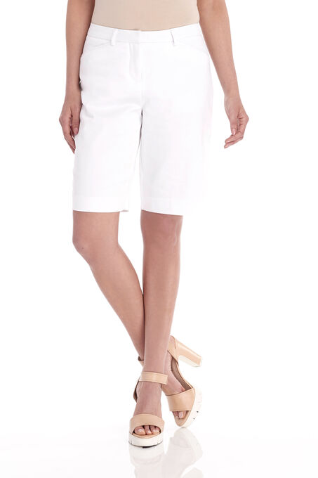 Straight Leg Capri Pants, White, hi-res