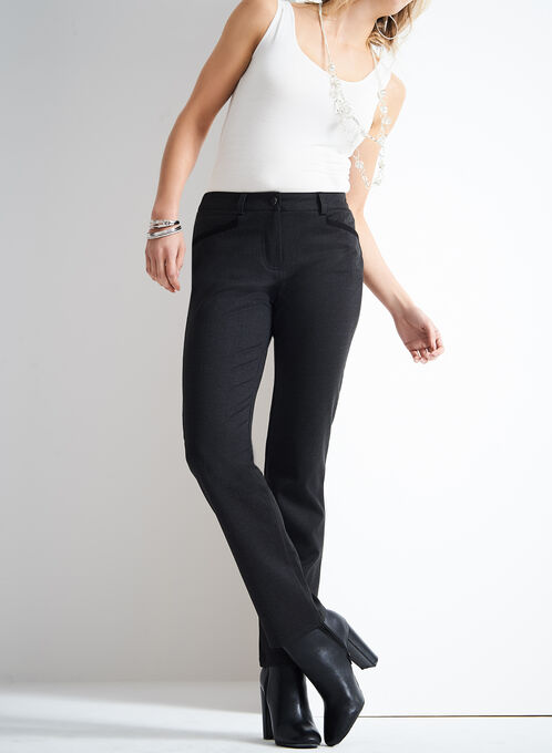 Trisisto Straight Leg Pants , Grey, hi-res