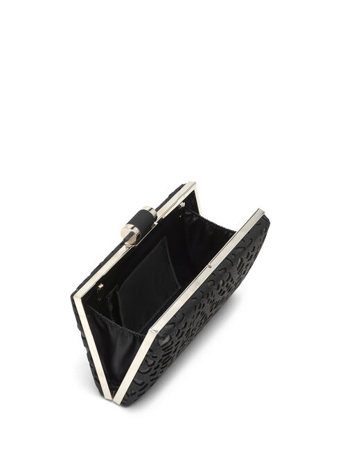 Rectangular Cutout Clutch, Black, hi-res