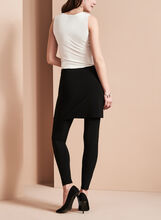 Frank Lyman Attached Skirt Leggings, Black, hi-res