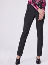 Bi-Stretch Slim Leg 7/8 Pants, Grey, hi-res