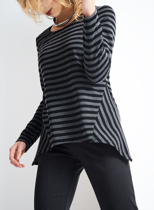 Linea Domani Tunic Sweater, Black, hi-res
