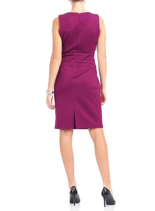 Ivanka Trump Sleeveless Scuba Dress , Red, hi-res