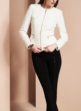 Tahari Zipper Trim Jacket, , hi-res