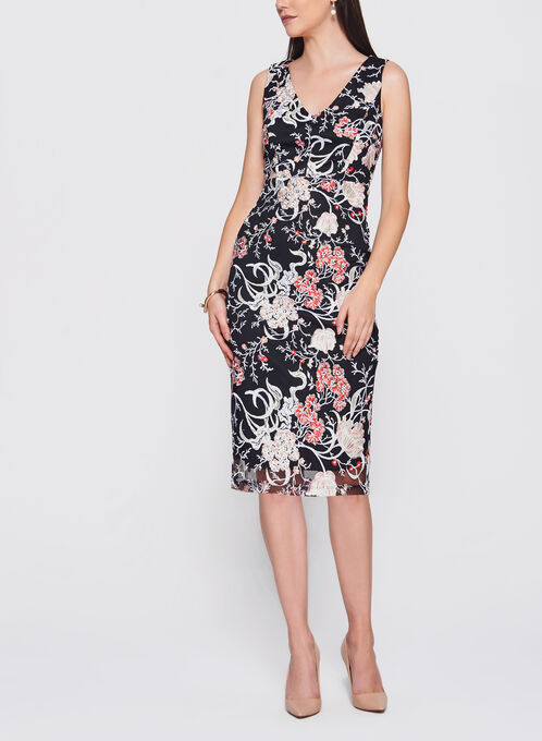 Jax - Floral Embroidered Mesh Dress, Multi, hi-res