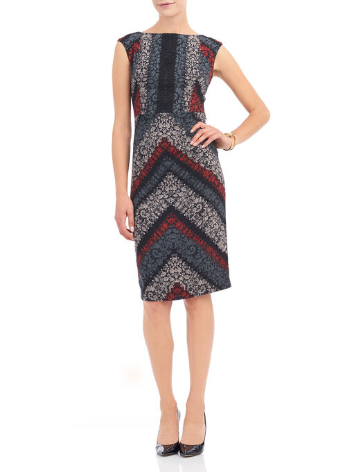 Maggy London Printed Crêpe Dress, Multi, hi-res