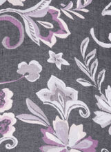 Floral Print Wrap Scarf, Black, hi-res