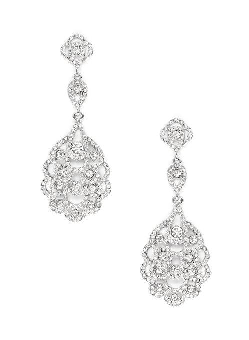 Boucles d'oreilles chandelier en cristal, Argent, hi-res
