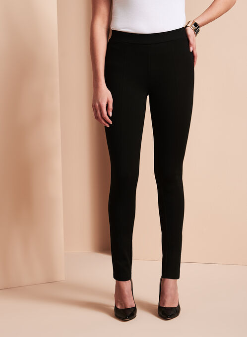 Classic Ponte Leggings, Black, hi-res