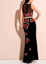 Two Piece Floral Motif Gown, Multi, hi-res