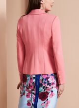One-Button Blazer, Pink, hi-res