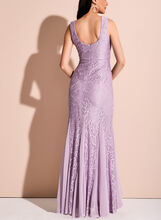 Floral Lace Mermaid Dress, Purple, hi-res