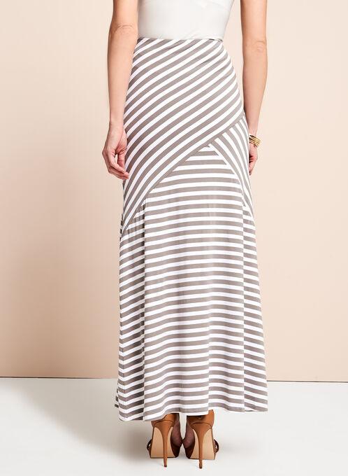 Linea Domani Graphic Stripe Print Skirt, Brown, hi-res