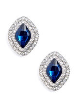 Stone & Crystal Stud Earrings, , hi-res