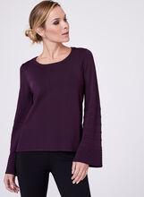 Long Bell Sleeve Sweater, Purple, hi-res