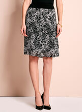 Trisisto Geometric Print Pleated Skirt, Black, hi-res