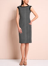 Graphic Print Sleeveless Sheath Dress, , hi-res