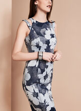Maggy London - Magnolia Print Dress, Blue, hi-res