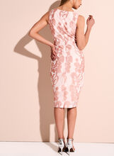 Jax Leaf Embroidered V-Neck Dress, Pink, hi-res