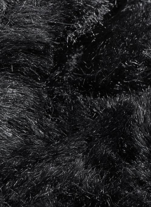 Faux Fur Loop Scarf, Black, hi-res