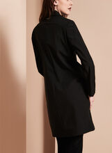 Novelti Notch Collar Banker Coat, Black, hi-res