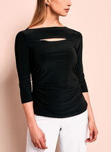 Peek-a-Boo Side Ruched Top, , hi-res