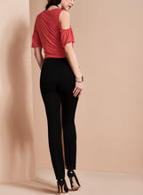Bi-Stretch Slim Leg Pants , Black, hi-res