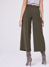 Wide Leg Culotte Pants , Green, hi-res