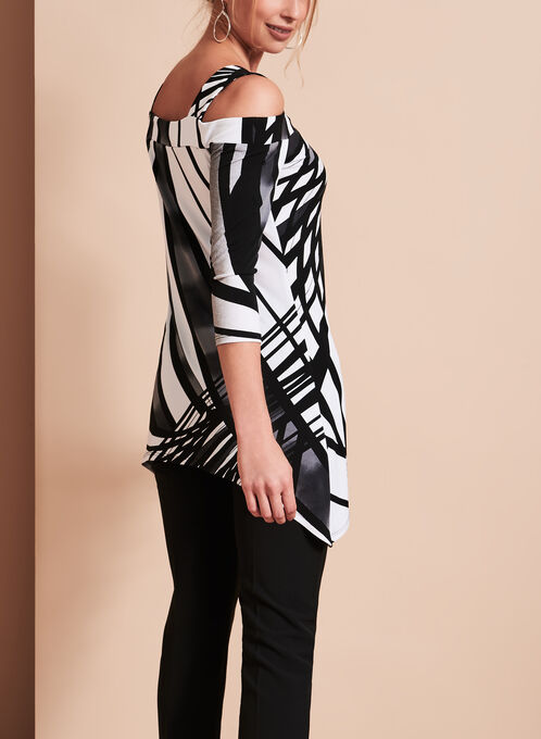 Frank Lyman Abstract Print Top, Black, hi-res