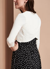 3/4 Sleeve Knit Bolero, Off White, hi-res