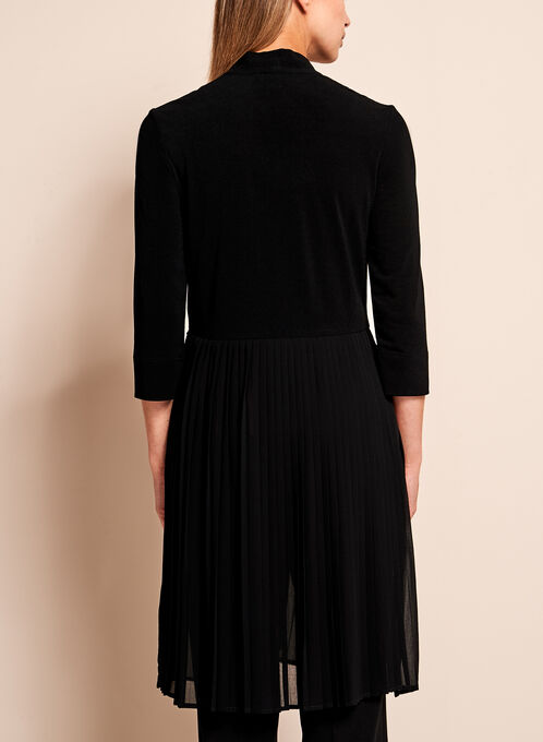 Linea Domani - Pleated Long Sleeve Duster, Black, hi-res