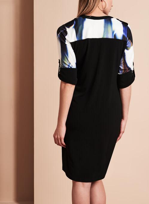 Simon Chang - Abstract Print Dress, Multi, hi-res