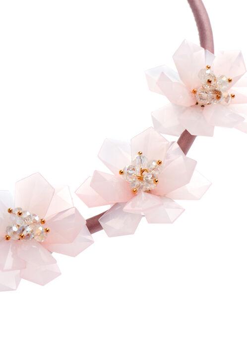 Lucite Flower Necklace, Pink, hi-res