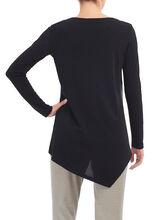 Long Sleeve Layered Tunic Top, Black, hi-res