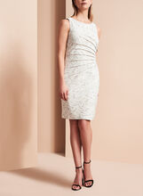 Ivanka Trump Textured Scuba Dress, , hi-res