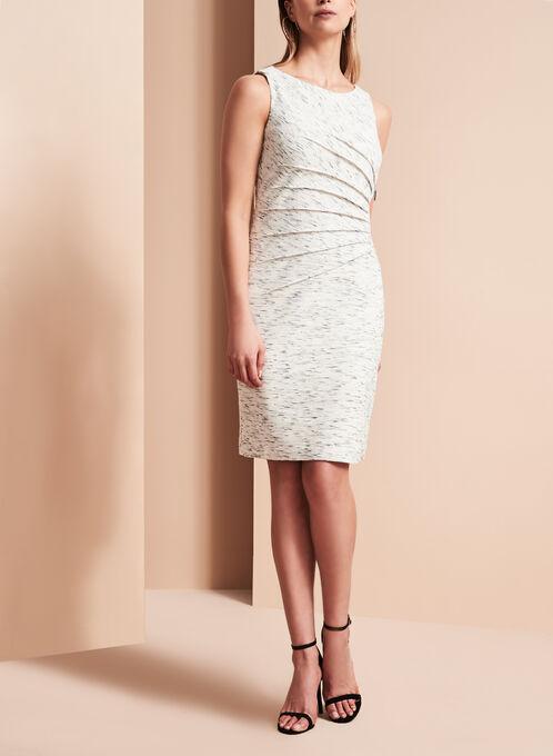 Ivanka Trump - Robe plissée texturée , Noir, hi-res
