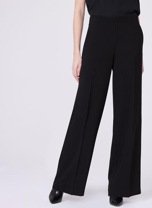 Pantalon Soho à taille haute et jambe large , Noir, hi-res