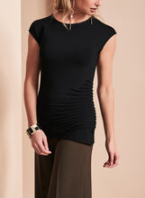 Extended Sleeve Pintuck Top, , hi-res