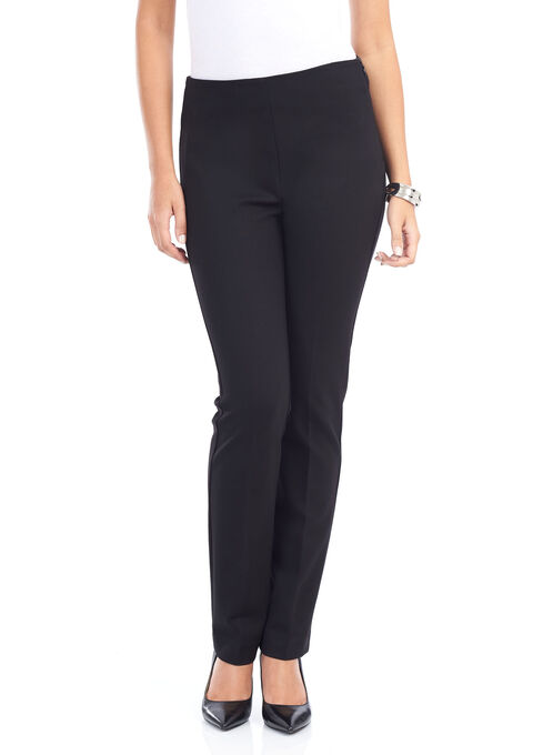 Slim Leg No-Waist Pants, Black, hi-res