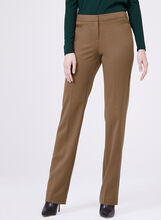 Lauren Tailored Fit Straight Leg Pants , Brown, hi-res
